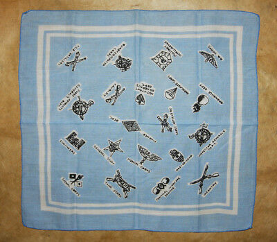 Vtg Hankie Handkerchief WWII Army Departments Air Corps Ordnance Military Intel