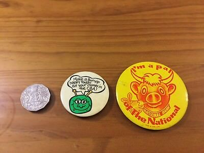 Collectable Vintage Bank Badges X 2
