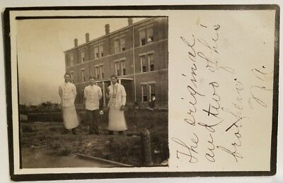 1908 Commerce, Texas CHEFS at East Texas Normal College Real Photo RPPC Postcard