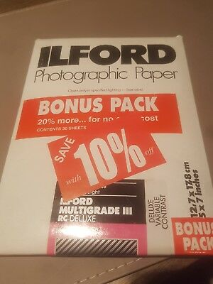Ilford Multigrade 111 RC Delux MG glossy Photographic Paper 5 x 7
