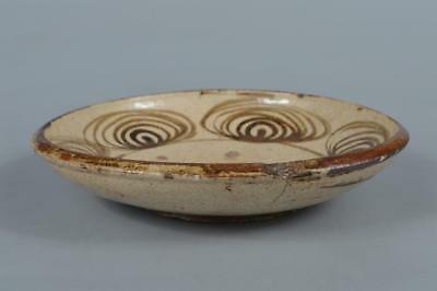 M9319: Japanese Old Seto-ware Horse's eyes pattern ORNAMENTAL PLATE/Dish