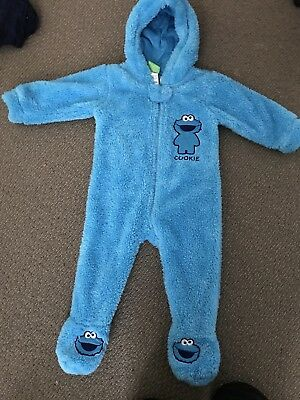 Cookie Monster Sesame Street Size 1 Jumpsuit