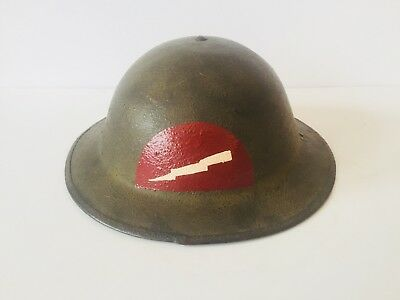 Original US WWI 78th Infantry Division Painted Insignia Doughboy Helmet - Named