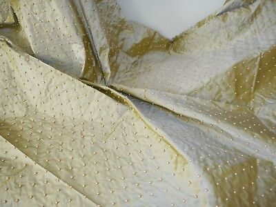 Vintage pure silk dupioni with pearly beads