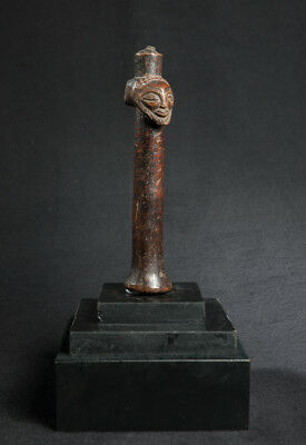 Early 20th Cen Luba Pestle, D.R. Congo, Central African Tribal Arts