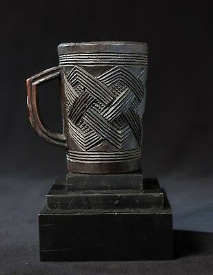 Kuba Palm Wine Cup, Belgian Congo, Old European Collection, Central African Art.