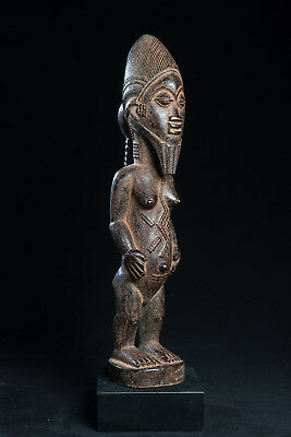Baule, Female Spirit Spouse Statue, Ivory Coast, African Tribal Arts