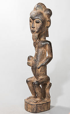 Baule, Male Ancestor Figure, Ivory Coast, African Tribal Arts, African Sculpture