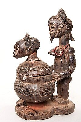 Baule, Vessel with Female Ancestor Statue, Ivory Coast, West African Art