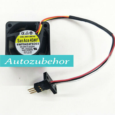 for FOR Sanyo 109P0424H6D23 fan 40*40*20mm 24V 0.07A 3pin