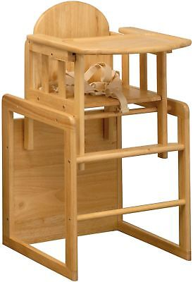 East Coast 3 IN 1 COMBINATION WOODEN HIGHCHAIR/ PLAY TABLE + SAFETY HARNESS BN