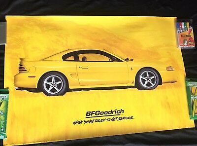 """BF Goodrich Ford Mustang """"To Get Serious"""" Poster SN95 1996 36 x 24"""