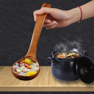 Wooden Spoon Kitchen Cooking Utensil Soup Teaspoon Catering 8C