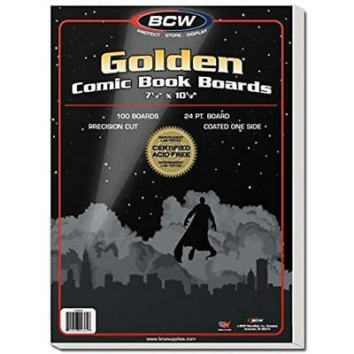 BCW-BBGOL -Golden Age Size Comic Backing Boards (100 Boards) Card Sleeves Sports