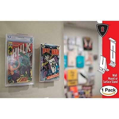 Comic Mount Book Shelf Stand Wall Mount, Invisible Adjustable, 1 Pack Display