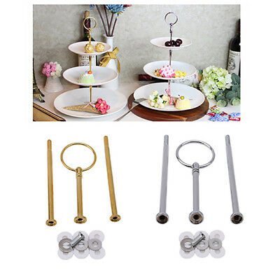 3 Tier Cake Stand Afternoon Tea Wedding Plates Party Tableware 8C