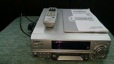 minidisc player recorder goodmans gmd 920 model with remote and manual booklet