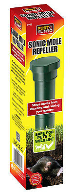 Small Sonic Mole Repeller Green Plastic Spike - Pest Control For Garden Lawns