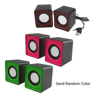 USB 2.0 Wired Mini Speakers for Laptop PC MP3 Multimedia Speaker Random Color