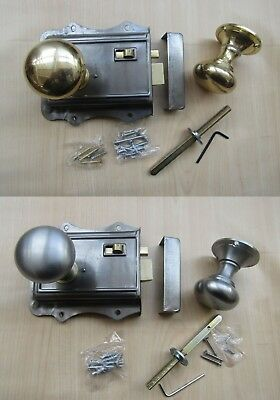 Rustic Industrial Old Vintage Style Bedroom Bathroom Rim Door Latch Knob Handles