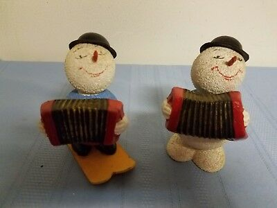 Vintage Lot of 2 Snowmen Candy Container, Cardboard/Paper Mache'  U. S. Zone