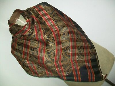 Jaeger. Large & Beautiful Classic Paisley Design Vintage Silk Scarf