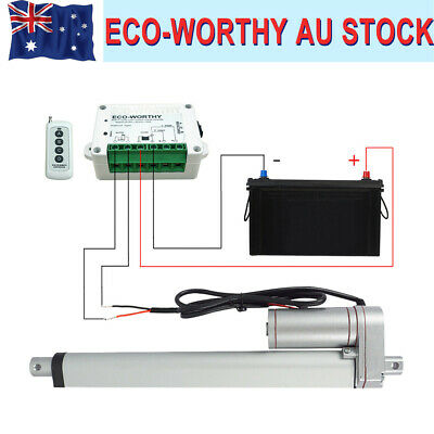 """2""""-18"""" 1500N Linear Actuator 50mm-450mm 12V Motor + Mounting Brackets for AU"""