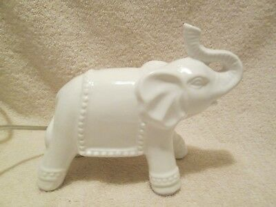 Elephant Electric White Ceramic Night Light Table Top Better Home & Garden