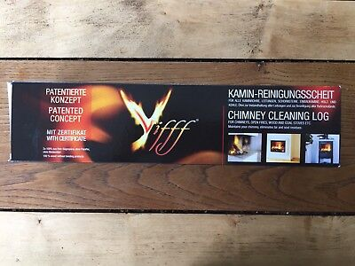 1 x VIFFF CHIMNEY CLEANING LOG HELPS TO REMOVE TAR/SOOT