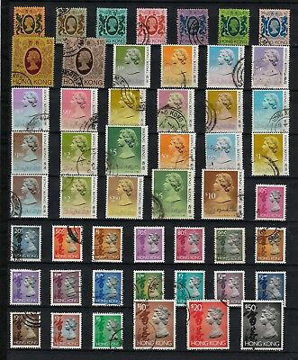 HONG KONG Definitive Stamps COLLECTION 1982c to 1992c REF:QM20