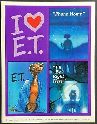 Vintage Stickers - Hallmark - ET - E.T. The Extraterrestrial - Dated 1982