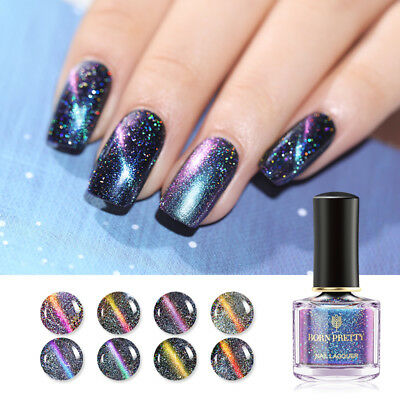 BORN PRETTY 6ml CatEye Nail Polish Holo Chameleon Magnetic  Varnish DIY