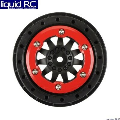 Pro-Line 2745-03 ProTrac F-11 2.2 inch /3.0 inch Red/Black Bead-Lock Wheels