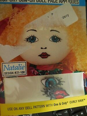 DELUXE EMBROIDERY FANTASTIC FACE SEW ON 20 -24 DOLL FACE APPLIQUES NATALIE one**