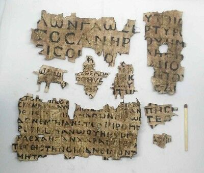 rare Coptic Egyptian Papyrus in Greek and Latin lot of 8!!
