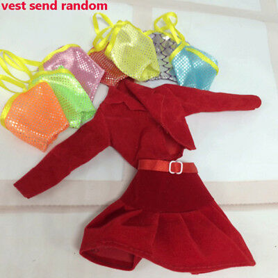 2PCS Cute Handmade Tops+ Skirt Dress Clothes Outfits For Barbie Doll Toys Gifts