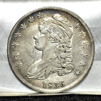 1836 Bust Half Dollar - Lettered Edge - XF Details (#15888)