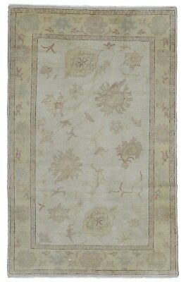 5' x 7' Beige Wool Egyptian Oushak Hand Knotted Oriental Small Area New!!!