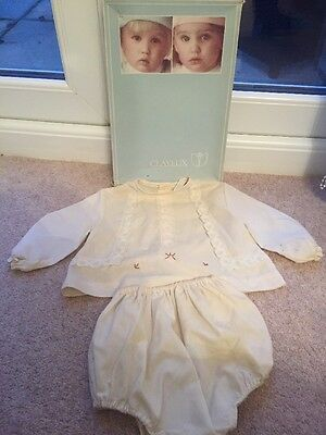 Vintage Baby Outfit 1 Year Brierley's Of Blackburn Hand Embroidered Part Nylon