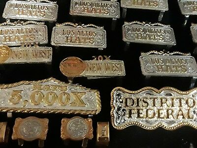 LOS ALTOS HAT BAND CLIPS BELT LOT OF 26 GOLD AND SILVER 5000X  20x NEW WEST