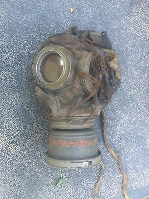Vintage 1917 German world war one gas mask with Cannister