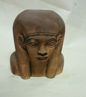RARE ANCIENT EGYPTIAN ANTIQUE HATSHEPSUT Head Limestone 1563-1502 BC