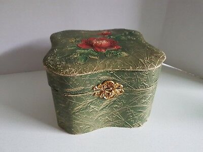 Antique Texoloid Men's Collar Box Hand Painted