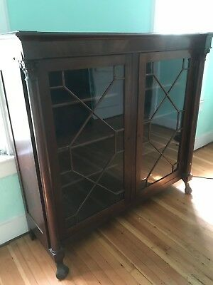 Empire bookcase with glass doors