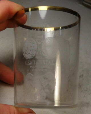 1905 Lewis & Clark Exposition Souvenir Advertising Glass, Beer Related?
