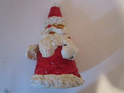 BEAUTIFUL Vintage Artist Made Hand Crafted Paper Mache Santa
