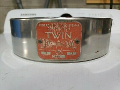 FEDERAL SIGNAL Twin Beacon Ray visibar model 11 (and 14) dome retainer ring
