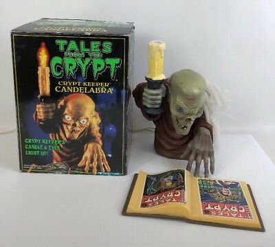 VINTAGE TALES FROM THE CRYPT KEEPER CANDLEABRA LIGHT UP LAMP W/ Box HALLOWEEN