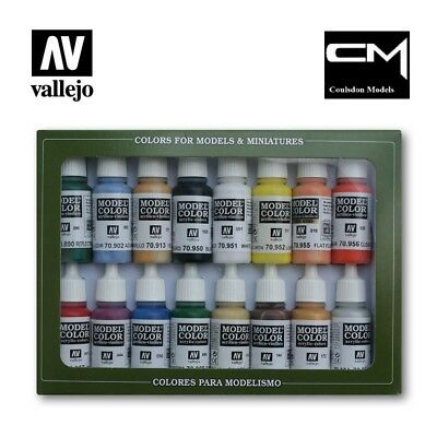 Vallejo Model Color 70.140 USA Basic Colours Paint Set 16x17ml Acrylic Paints
