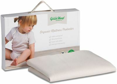 The Little Green Sheep ORGANIC MATTRESS PROTECTOR MOSES BASKET/PRAM 30 x 70cm BN